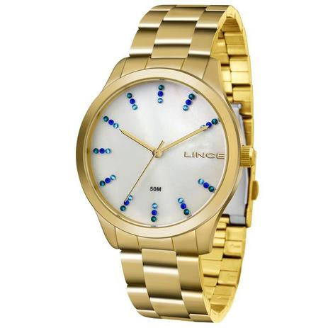 c452ce2abf1 Relógio Lince Feminino Ref  Lrg4445l B1kx Casual Dourado - Relógio ...