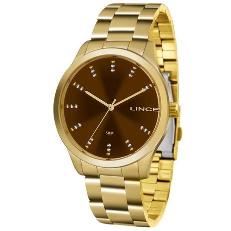 cd725d1995b Relógio Lince Feminino Ref  Lrg4445l M1kx Casual Dourado - - Relógio ...