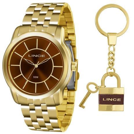 542b99365cc Relógio Lince Feminino Ref  Lrg4510l Ku55n1kx Dourado + Chaveiro ...