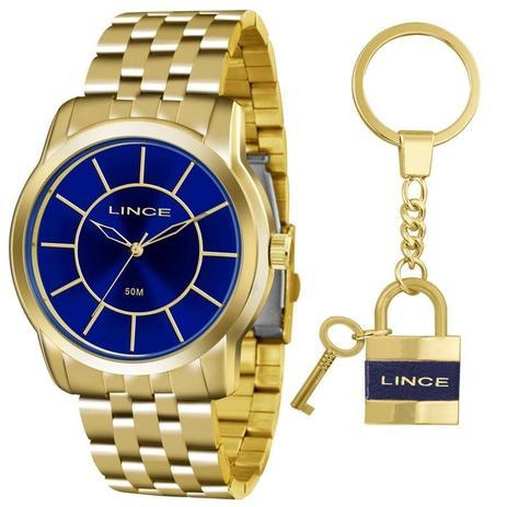 eac1f9984941c Relógio Lince Feminino Ref  Lrg4510l Ku56d1kx Dourado + Chaveiro ...