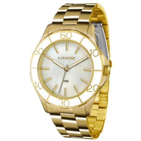 4a160726778 Relógio Lince Feminino Ref  Lrgj067l B1kx Casual Dourado - Relógio ...