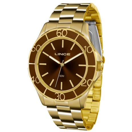 66b96b9fed1 Relógio Lince Feminino Ref  Lrgj067l M1kx Casual Dourado - Relógio ...