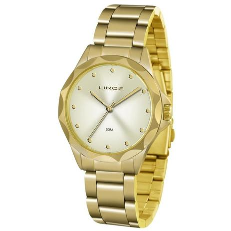 29802c8071c Relógio Lince Feminino Ref  Lrgj076l C1kx Fashion Dourado - Relógio ...