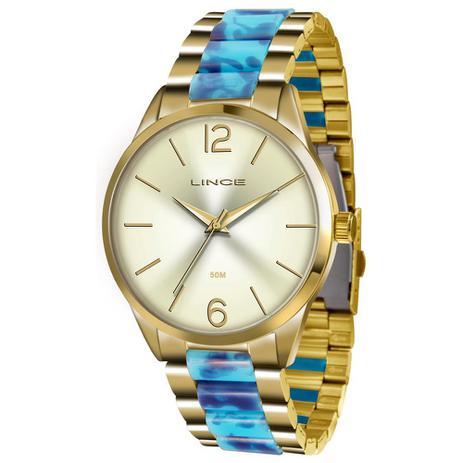 f09a28f70f8bb Relógio Lince Feminino Ref  Lrt4443l C2ka Fashion Dourado - Relógio ...
