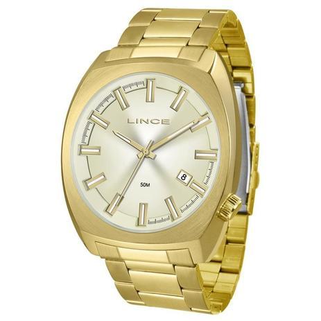 f21f96f9fe0 Relógio Lince Masculino Ref  Mrg4584s C1kx Casual Dourado - Relógio ...