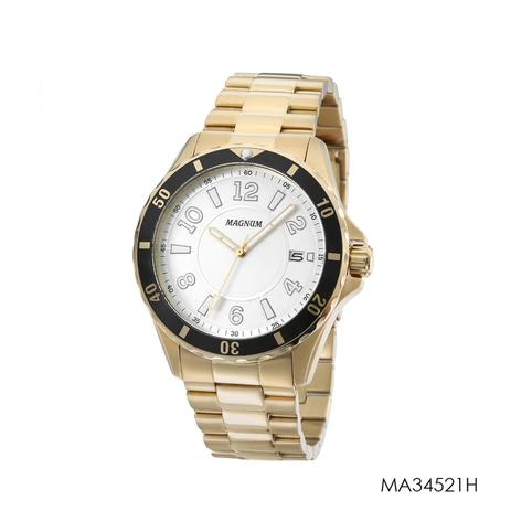79300309e6b Relógio magnum dourado ma34521h - Relógio Masculino - Magazine Luiza
