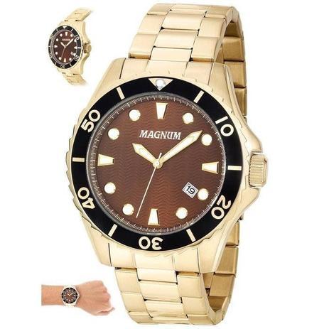 5069b56dd34 Relógio Magnum Masculino Ref  Ma35011r Casual Dourado - Relógio ...