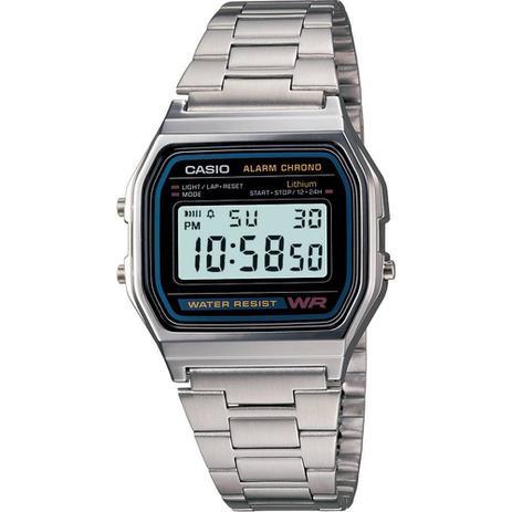 80c7806e68f Relógio Masc. A158wa-1df Prata Dig. Á Prova DÁgua - Casio - Relógio ...