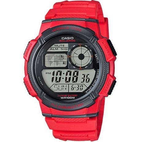 11ece9c8180 Relógio Masculino Ae1000w4avdf Vermelho - Casio - Relógio Masculino ...