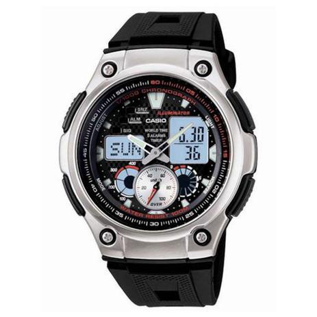 6e0ad2c2957 Relógio Masculino Anadigi Casio AQ-190W-1AVDF - Preto - Relógio ...