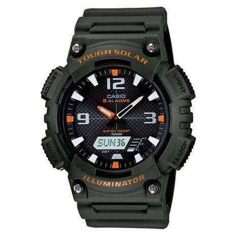 af3f102cd9b Relógio Masculino Anadigi Casio AQS810W3AVDF - Verde - Casio ...