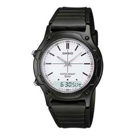 c3aa24b551b Relógio Masculino Anadigi Casio AW-49H-7EV - Preto Branco - Casio ...