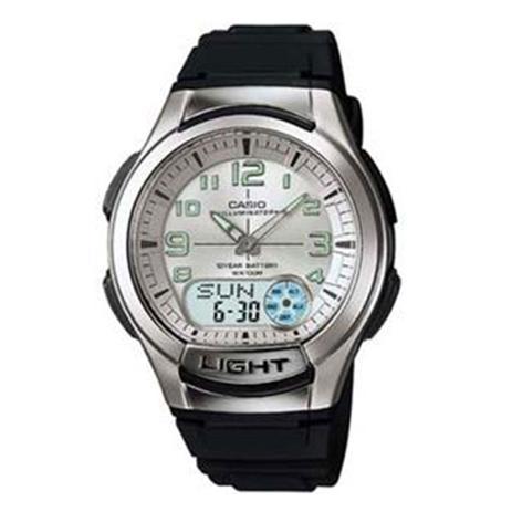 d16e956ae98 Relógio Masculino Anadigi Casio Standard AQ-180W-7BV - Preto Branco ...