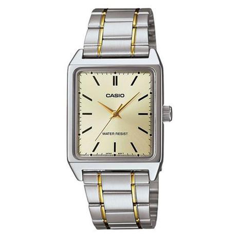 d882c50b6b9 Relógio Masculino Analógico Casio MTP-V007SG-9EUDF - Prata Dourado - Casio