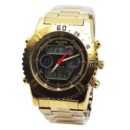 7c1afacf15b Relogio masculino atlantis anadigi g3211 dourado - Relógio Masculino ...