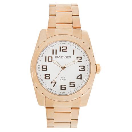 269b2746245 Relógio Masculino Backer Analógico 3293145M - Dourado - Relógio ...