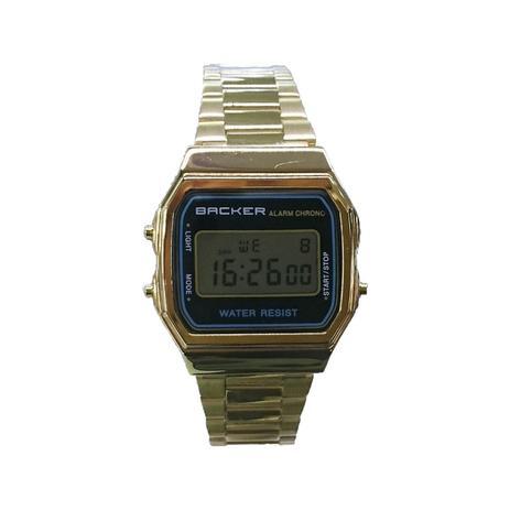 28e06750b79 Relógio Masculino Backer Digital 15002475F - Dourado - Relógio ...