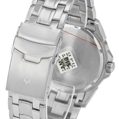 769e1cf4387 Relógio Masculino Bulova Analógico WB21632T Aço com fundo preto ...
