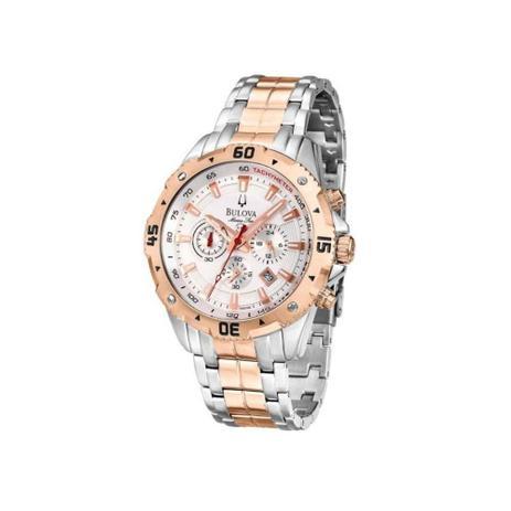 856f3c72bed Relógio Masculino Bulova Marine Star Wb31738z - Prata Rosê - Relógio ...