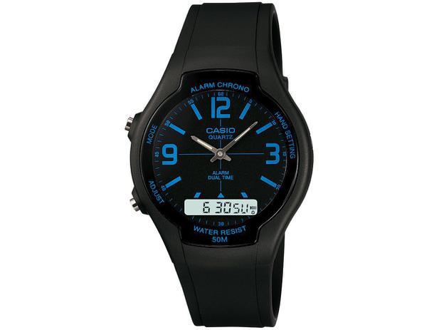 923b92c49c3 Relógio Masculino Casio Anadigi - AW-90H-2BVDF - Relógio Masculino ...