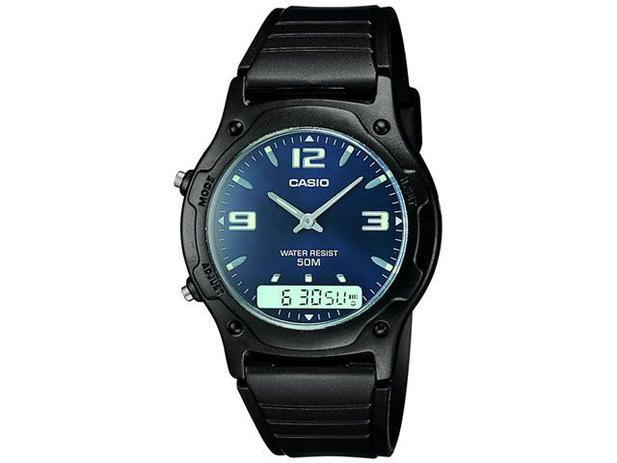 9e62f465584 Relógio Masculino Casio Anadigi - Mundial AW-49HE-2AVU - Relógio ...