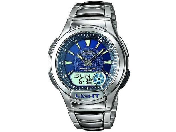 3245537ff18 Relógio Masculino Casio Anadigi - Resistente à Água Cronômetro Mundial  AQ-180WD-2AV
