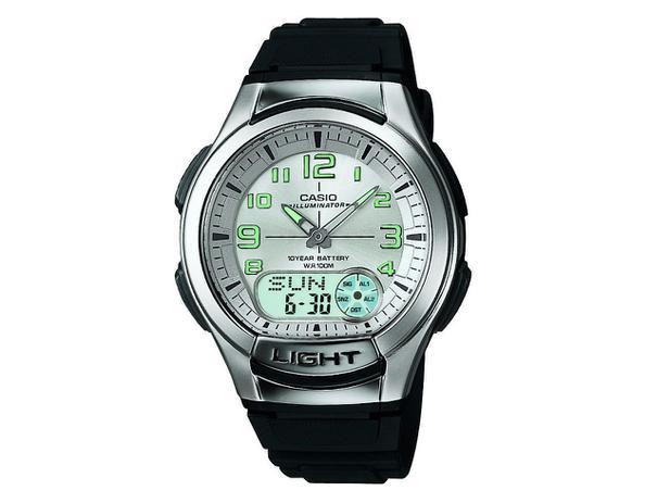 ec3e56e9e23 Relógio Masculino Casio Anadigi - Resistente à Água Cronômetro Mundial  AQ180V 7BVDF