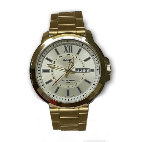 3aff619999d Relógio Masculino Casio Analógico MTP-X100ZG-9AVDF - Dourado ...
