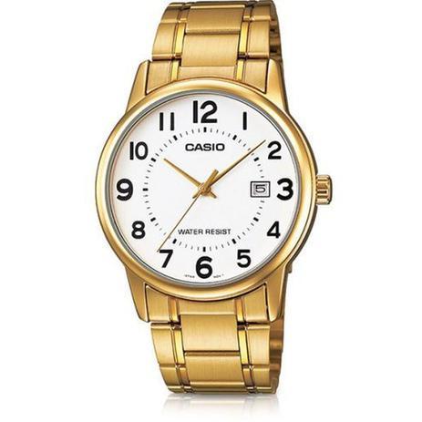 5fddb6221f9 Relogio Masculino Casio Collection - Mtp-v002g-7budf - Dourado ...