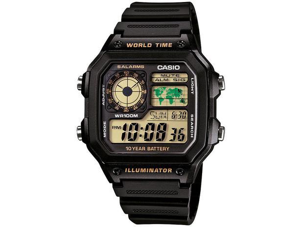 e2d82982b0c Relógio Masculino Casio Digital - AE-1200WH-1BVDF - Relógio ...