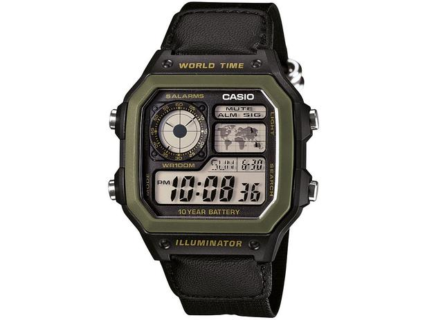a55ed4bd23e Relógio Masculino Casio Digital - AE-1200WHB-1BVDF - Relógio ...