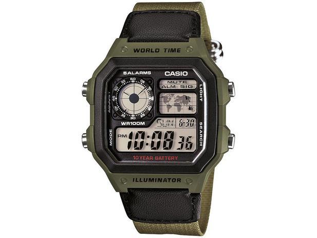 1b2b55fd2ef Relógio Masculino Casio Digital - AE-1200WHB-3BVDF - Relógio ...
