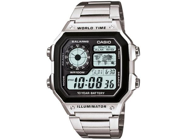 8a3557eda42e Relógio Masculino Casio Digital - AE-1200WHD-1AVDF - Relógio ...