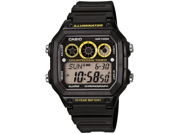459344d79b0 Relógio Masculino Casio Digital - AE-1300WH-1AVDF - Relógio ...