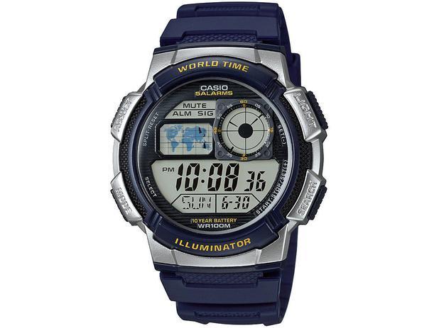 d0691c93c61 Relógio Masculino Casio Digital - Resistente à Água Cronômetro AE-1000W-1AV