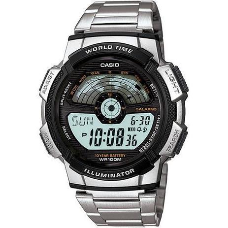 b8ec8a0b991 Relógio Masculino CASIO Digital Social AE-1100WD-1AVDF - Relógio ...