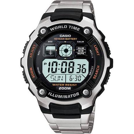 a70f52d9121 Relógio Masculino CASIO Digital Social AE-2000WD-1AVDF - Relógio ...