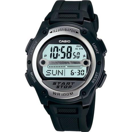157092af743 Relógio Masculino Casio Digital W-756-1AVDF - Prata Preto - Relógio ...