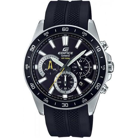 31c6ef0544e Relógio Masculino Casio Edifice EFV570P1AVUDF - Prata Preto ...