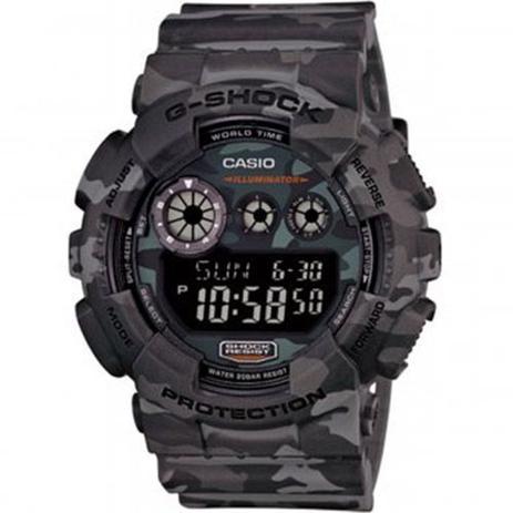 087fbcecb3992 Relogio Masculino Casio G-shock Anadigi Gd-120cm-8dr - Camuflado ...