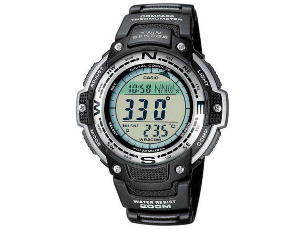 5466e84cd6e Relógio Masculino Casio SGW-100-1VDF Digital - Resistente à Arranhões com  Cronógrafo e Bússola