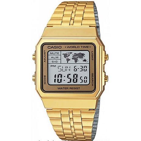 e4e87f5a21c Relógio Masculino Casio Vintage World A500WGA9DF - Dourado - Relógio ...