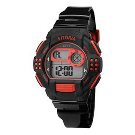 5fe606a9412 Relógio Masculino Clubes Technos Vitória Digital Esportivo Vfc13615 ...