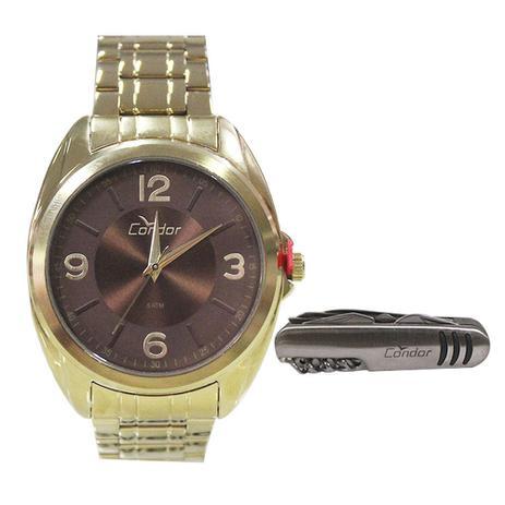 455288fa158 Relógio Masculino Condor CO2035KVE K4M - Dourado - Relógio Masculino ...