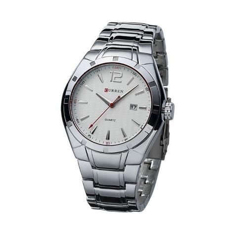 5e6200080af Relógio Masculino Curren Analógico 8103 Prata e Branco - Relógio ...