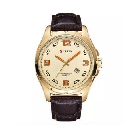 f0e3446eed6 Relógio Masculino Curren Analógico 8121 - Dourado - Relógio ...