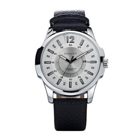 9e3045610f0 Relógio Masculino Curren Analógico 8123 Prata e Branco - Relógio ...
