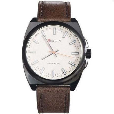 b4371553bc685 Relógio Masculino Curren Analógico 8168 Marrom e Preto - Relógio ...