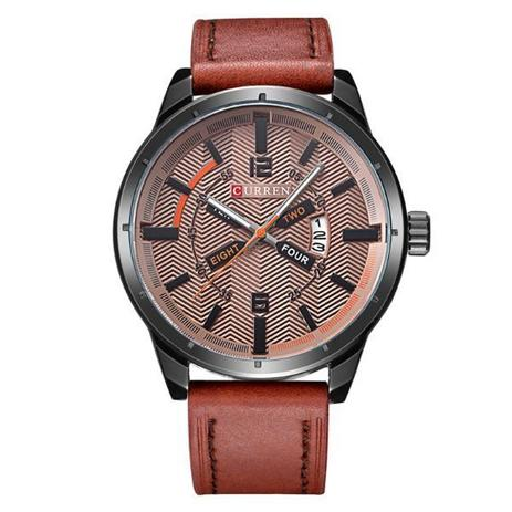 f6c51d44eb4 Relógio Masculino Curren Analógico 8211 Marrom - Relógio Masculino ...