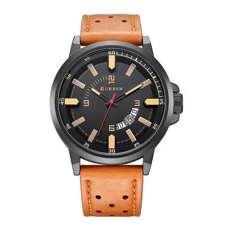 925dc6c14b2 Relógio Masculino Curren Analógico 8228 Preto e Bege - Relógio ...
